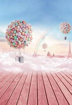 5x7ft Baby Children Cloth Photography Background by Huayi Air Balloon Backdrop Photography Backdrops Vinyl