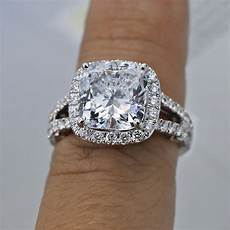 18k white gold engagement ring with diamonds 6 48ct