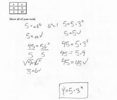 writing an exponential function from a table