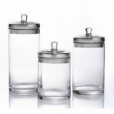 glass kitchen canisters style setter small medium large glass canisters with