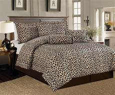 zebra print bedroom 7 pc brown beige leopard print faux fur comforter