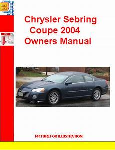 vehicle repair manual 2004 chrysler sebring electronic toll collection chrysler sebring coupe 2004 owners manual tradebit