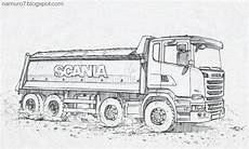 draw scania 6 dump truck in 2020 truck design