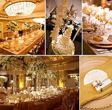 Golden Wedding Decorations Ideas