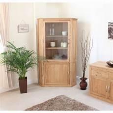 mobel corner display cabinet cupboard glazed solid oak