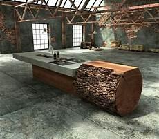 Baumstamm Tisch Originelle Designs