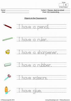 handwriting practice worksheets middle school 21487 back to school objects in the classroom 1 worksheets for handwriting