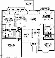 plan 58566sv dual master suites master suite floor double master bedroom house plan master suite floor plan