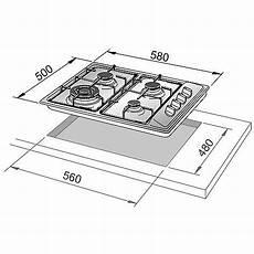 piano cottura misure il 46asv de longhi piano cottura 58x50 4 fuochi a gas inox