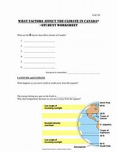 unit what factors affect climate in canada student