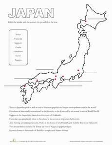 japanese worksheets free 19449 map of japan worksheet education
