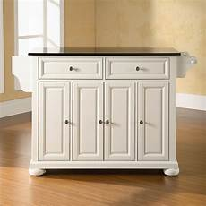 shop crosley furniture 52 in l x 18 in w x 34 in h white kitchen island at lowes com