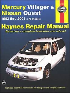 online auto repair manual 1993 mercury villager lane departure warning mercury villager nissan quest repair manual 1993 2001 haynes