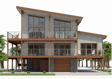 modern stilt house plans home plan ch512 with images coastal house plans house