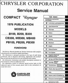 plymouth service repair manual download pdf 1976 dodge plymouth van repair shop manual sportsman tradesman compact voyager