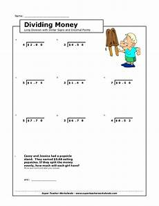 money division worksheets 2114 division money