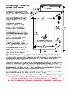 flying squirrel house plans southern flying squirrel nest boxes glaucomys org flying
