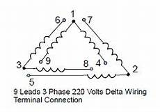 9 leads terminal wiring guide for dual voltage delta connected ac induction motor technovation