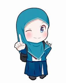 Gambar Kartun Wanita Berhijab Update Status Gambar Di 2019