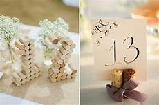 numéro de table mariage creative diy wedding table number ideas do it yourself