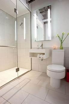 Ceramic Tile Ideas For Small Bathrooms Contemporary Bathroom With White Porcelain Tile Shower