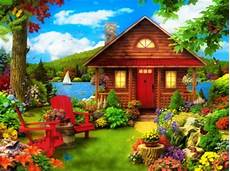 flower wallpaper house fairytale cottage other abstract background wallpapers