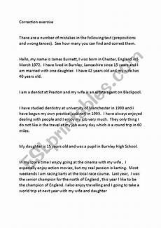 correcting spelling mistakes worksheets 22482 correction of grammar errors esl worksheet by fedbet