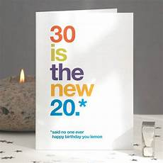 30 is the new 20 30th birthday card by wordplay