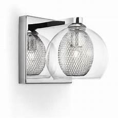 philips 38231 11 e0 coda chrome 1 l wall light with glass shade 3823111e0 brand philips