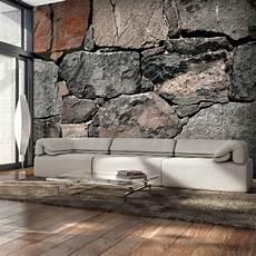 stein tapete wohnzimmer heimwerker vlies fototapete stein optik steinwand grau