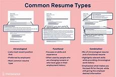 different resume types