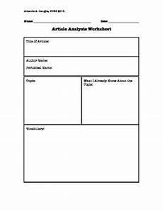 article analysis worksheet by haughs teachers pay teachers
