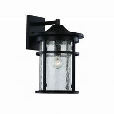 bel air lighting 1 light black outdoor crackled outdoor wall lantern 40381 bk the home depot