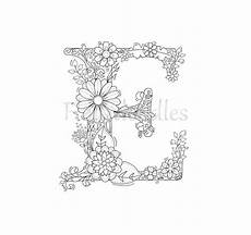 Ausmalbilder Erwachsene Buchstaben Malseite Zum Ausdrucken Buchstabe E Floral Lettere Dell
