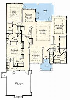 house plans with 2 master suites dual master suite energy saver 33093zr 1st floor