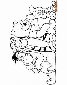 winnie the pooh mixed coloring pages 2 disneyclips