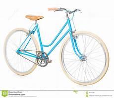 fahrrad für frauen das blaue fahrrad der stilvollen frauen lokalisiert auf