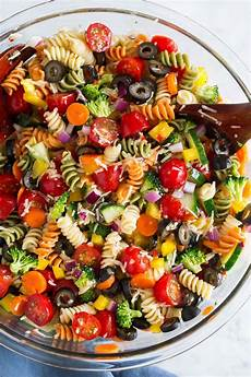 garden veggie pasta salad cooking easy pasta