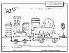 coloring pages places in town 18038 city worksheet education