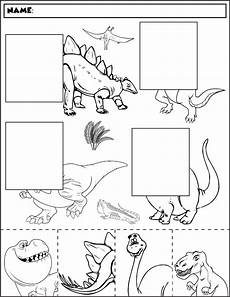 dinosaur worksheets for kindergarten 15385 dinosaur color and match 2 dinosaurs preschool dinosaur coloring preschool activities