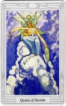 Königin Der Schwerter - divination with cards the aleister crowley thoth tarot by