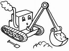 Malvorlagen Bagger Traktor Digger Coloring Page Print