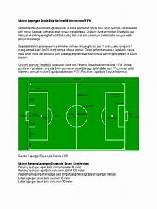 Gambar Lapangan Sepak Bola Dengan Penjelasannya