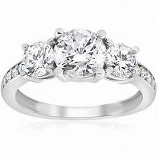 1 5 8 ct diamond 3 stone engagement ring white gold solitaire jewelry