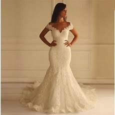 hot sale long lace mermaid wedding dresses sexy v neck