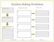 decision making worksheet tool