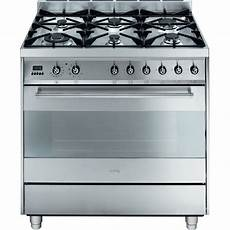 smeg gas electric oven w 6 burner stove top 121l buy