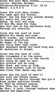 good old hymns crown him with many crowns lyrics