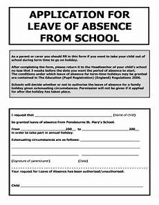 19 printable application for leave in school for going out of station forms and templates