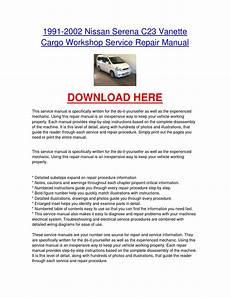 small engine repair manuals free download 2012 infiniti fx head up display 1991 2002 nissan serena c23 vanette cargo workshop service repair manual by nissancarrepair issuu